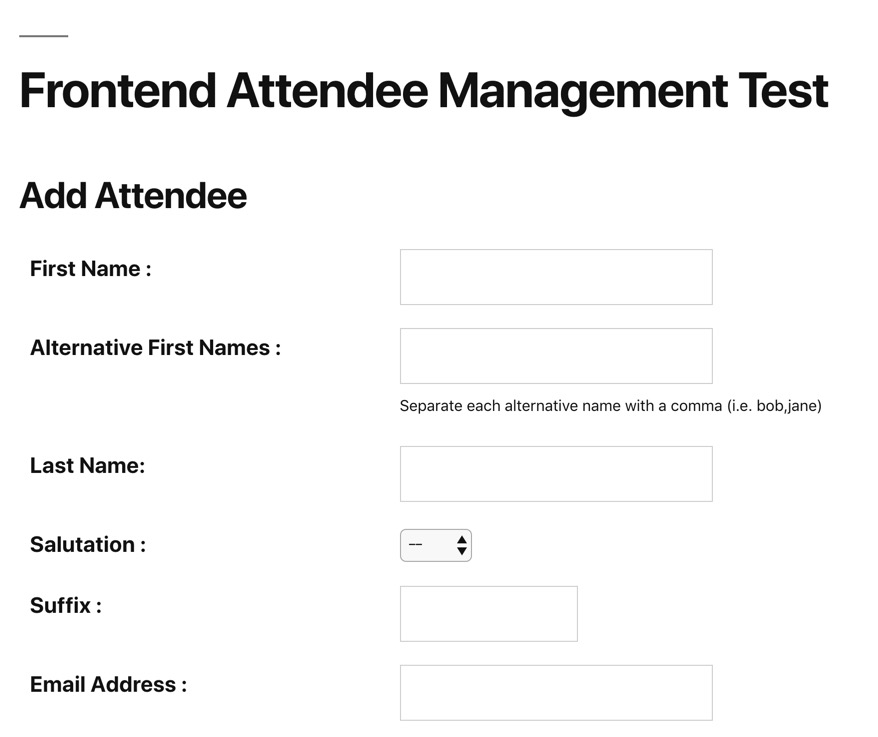 Example of Adding an Attendee